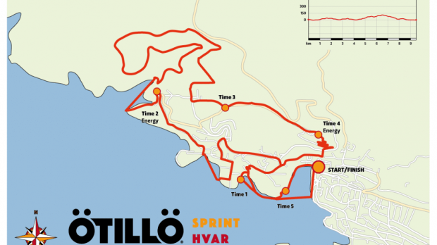 Map OTILLO Sprint Hvar